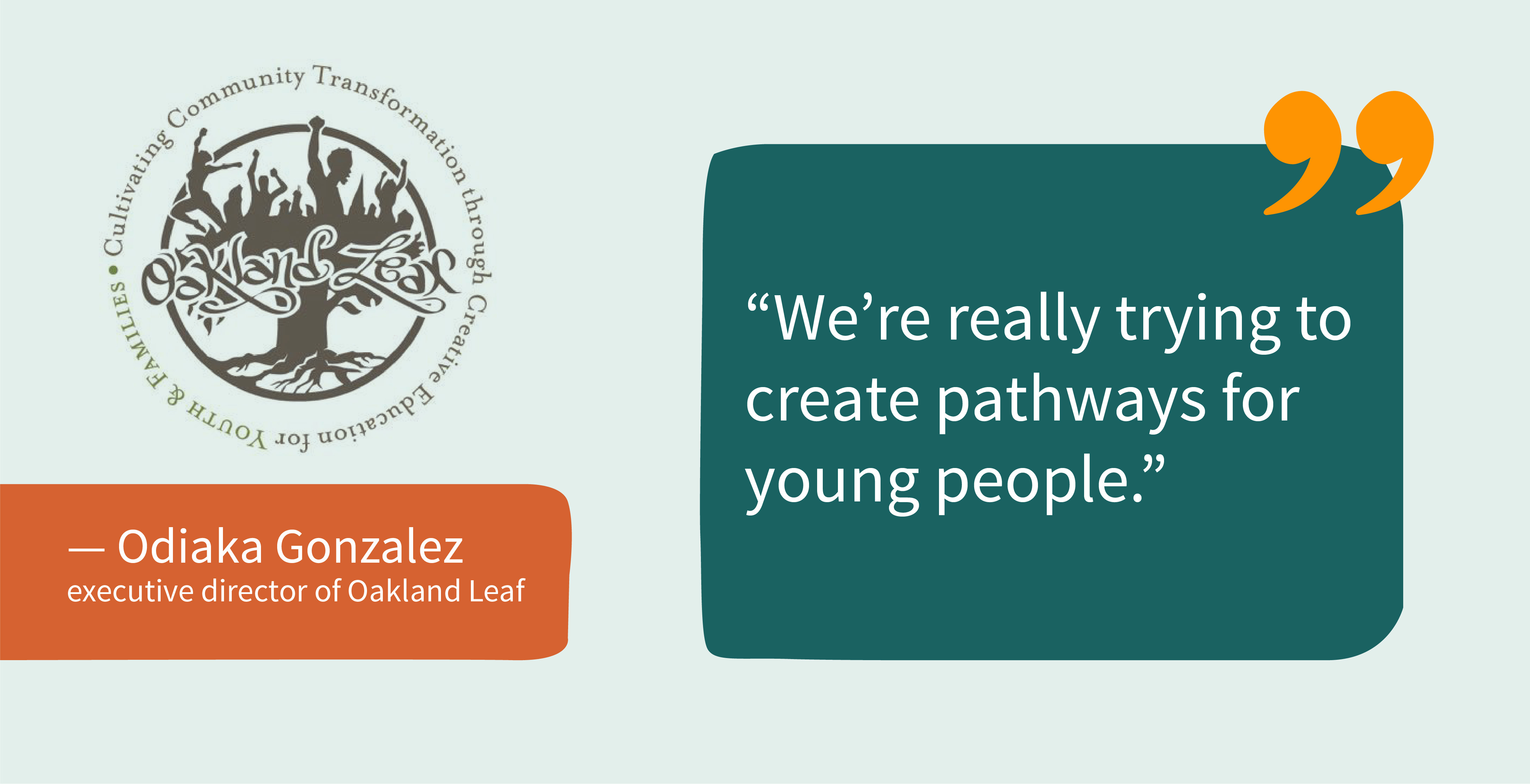 Oakland Leaf Quote