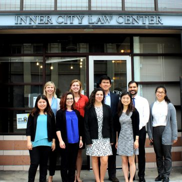 Summer Interns at the Inner City Law Center Skid Row Office.